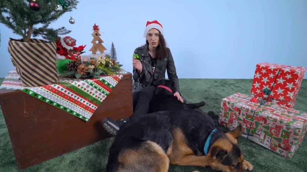 Weihnachtskugel mit Hunden